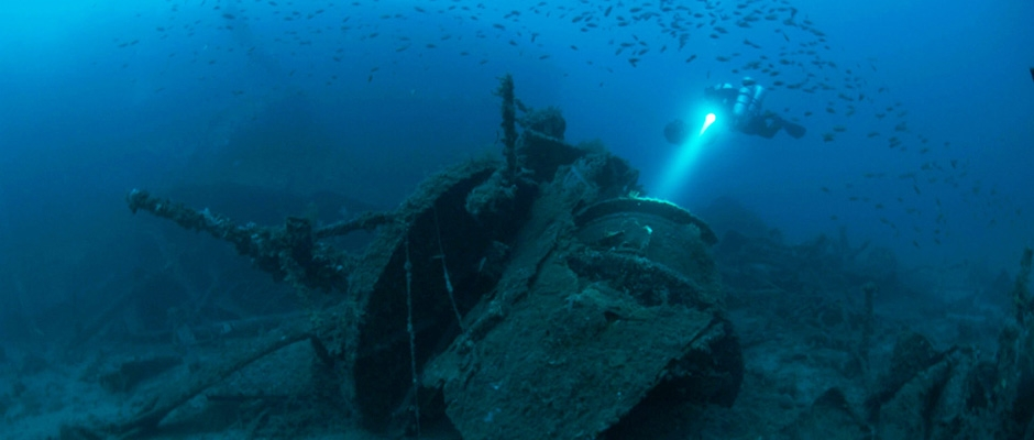The wreck of the Loredan